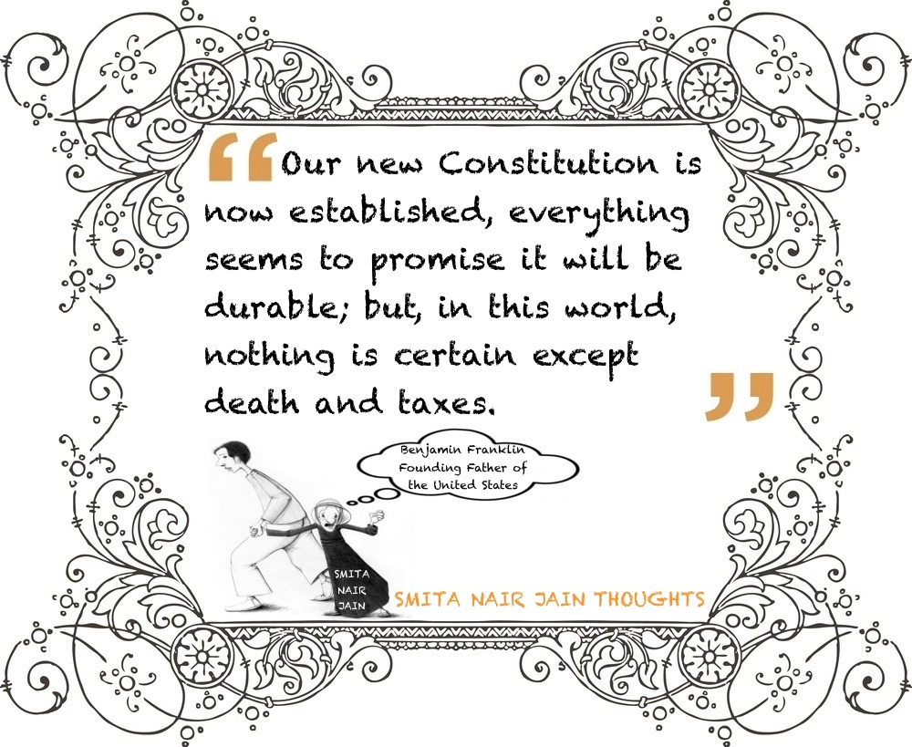 "Reading: ""Not Your Usual Founding Father"" Book by Benjamin Franklin ""Our new Constitution is now established, everything seems to promise it will be durable; but, in this world, nothing is certain except death and taxes."" - Benjamin Franklin Founding Father of the United States #smitanairjain #leadership #womenintech #thoughtleaders #tedxspeaker #technology #tech #success #strategy #startuplife #startupbusiness #startup #mentor #leaders #itmanagement #itleaders #innovation #informationtechnology #influencers #Influencer #hightech #fintechinfluencer #fintech #entrepreneurship #entrepreneurs #economy #economics #development #businessintelligence #business"