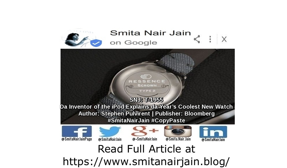 "SNJ: T-1955: ""The Inventor of the iPod Explains the Year's Coolest New Watch"" 