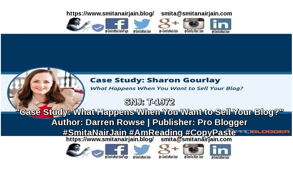 "SNJ: T-1972 | ""Case Study: What Happens When You Want to Your Blog?"" 