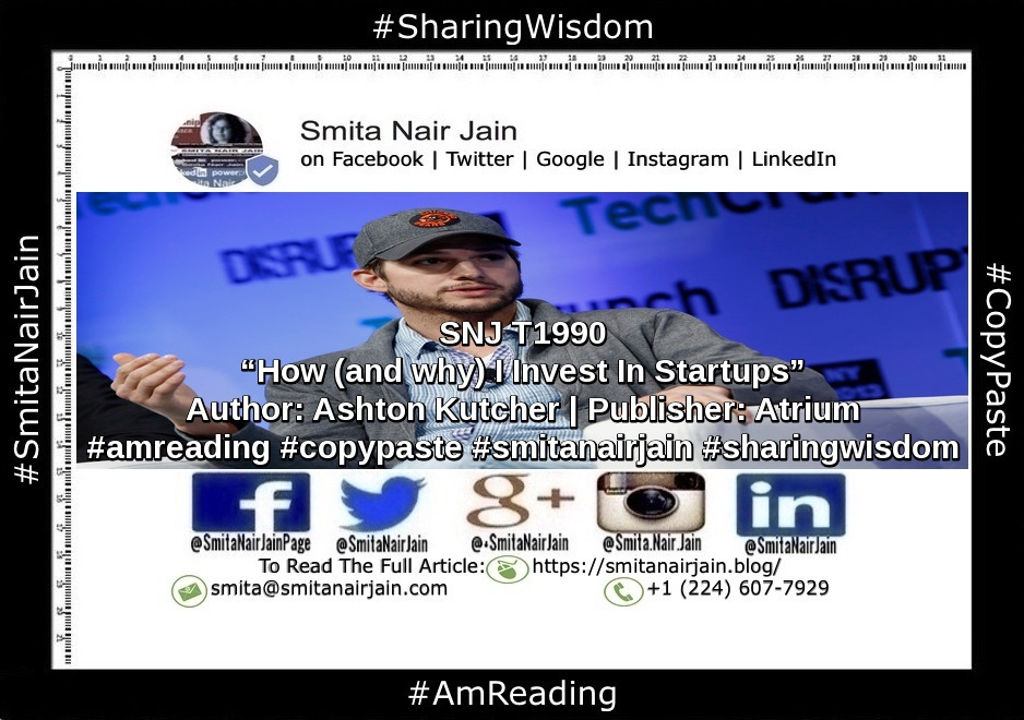 "SNJ T1990 | ""How (and why) I Invest In Startups"" 