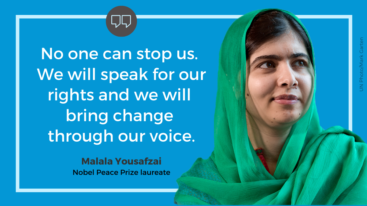 """No one can stop us. We will speak for our rights and we will bring change through our voice."""