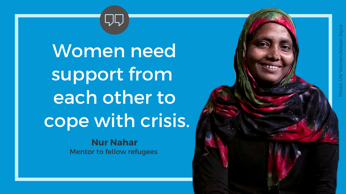 """Women need support from each other to cope with crisis."""